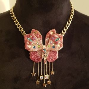 Betsey Johnson Butterfly Pendent Necklace